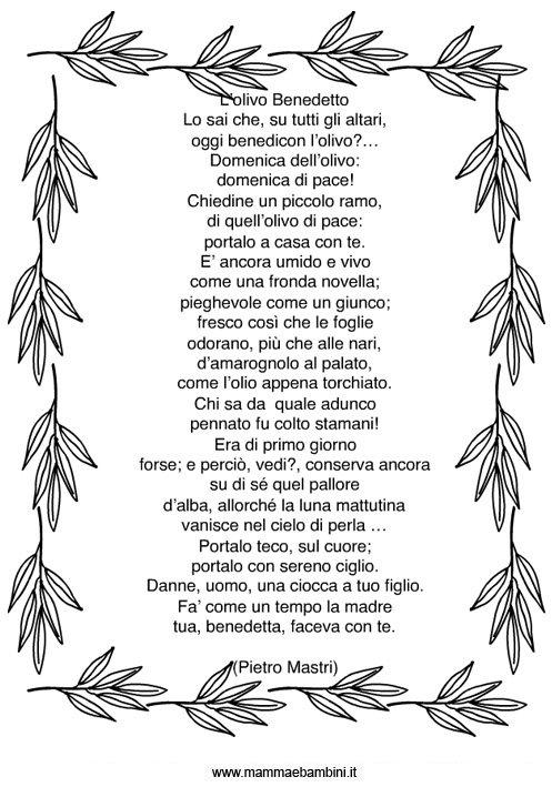 Poesia sulla Domenica delle Palme in poesie preghiere e testi pasqua festivita