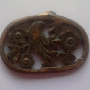 arved bone necklace pendant