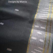Black Sari Fabric