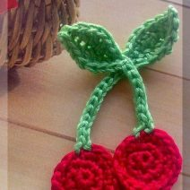 Crochet Cherries Applique Pattern