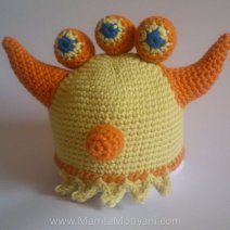 Crochet Ogre Monster Hat Pattern