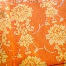Damask Print Cotton Saree Fabric