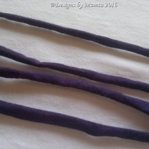 Indigo Purple Silk Fabric Cord