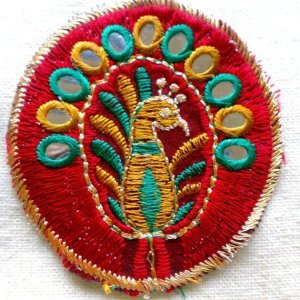 Peacock Embroidery Applique
