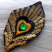 Peacock Feather Sequin Applique
