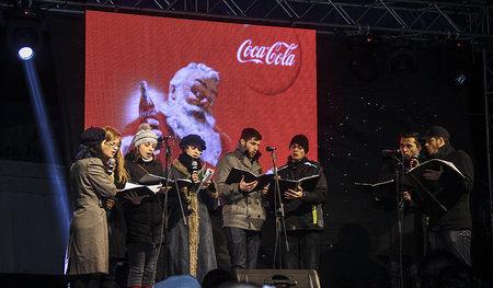 Caravana Coca-Cola la Pietroasele_Corul de colindatori