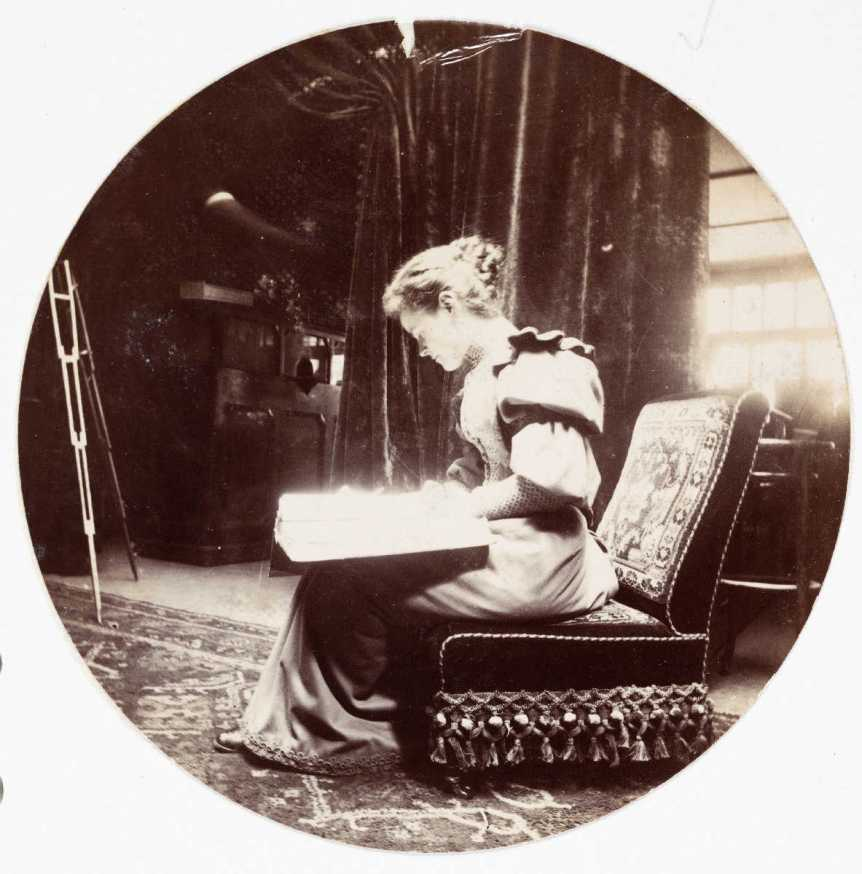 Woman Reading, ca. 1890. From National Media Museum—Kodak Gallery Collection (UK), on Flickr.