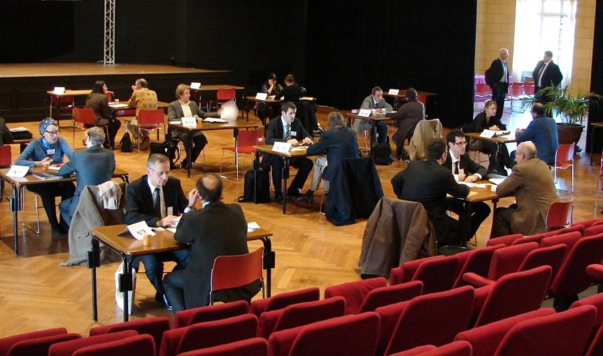 Medicen Speed Networking in 2011 at Cité Internationale Universitaire de Paris. (c) 2011 Daniel Rodet (CC BY-SA 3.0)