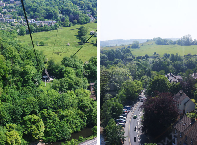 View from Matlock Cable Car