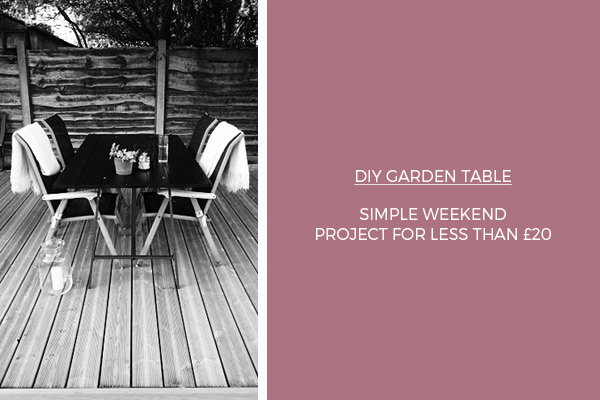 How to build a DIY garden table on a budget