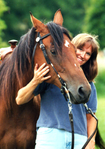 Margaret and her equine friend