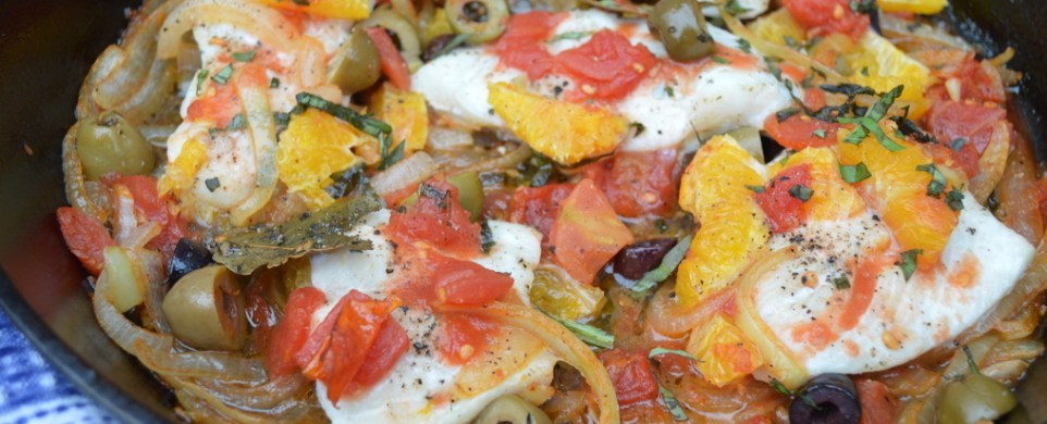 One Skillet Tomato Orange Haddock