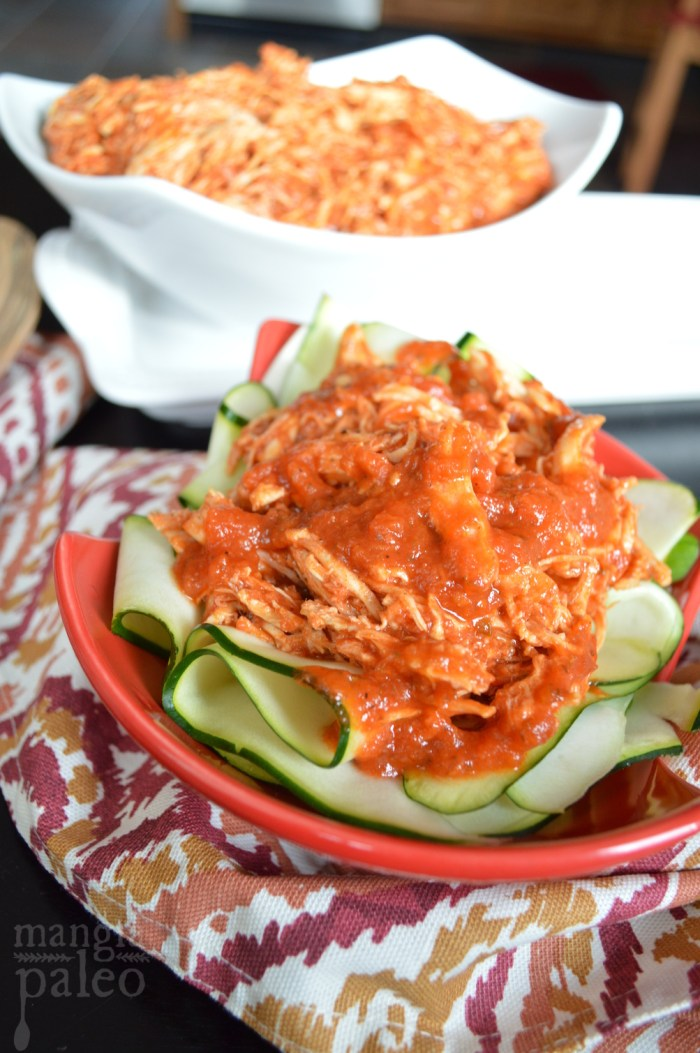 zucchini parpadelle and chicken ragu mangia paleo