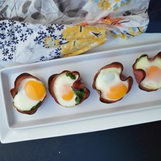 Salami Spinach Egg Cups