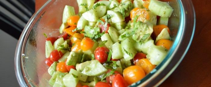 Avocado Cucumber Tomato Summer Salad