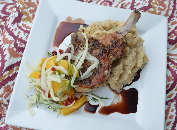 paleo-pork_recipe_cauliflower mash_fennel_salad