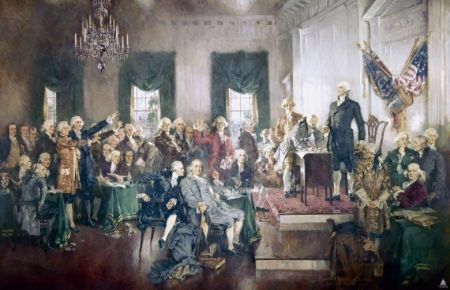 Signing of the Constitution (1940) av Howard Chandler Christy. Foto: US Library of Congress.