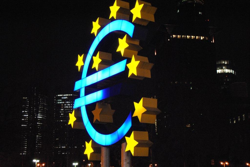 Euroen i Frankfurt. Foto: Tabrez Syed