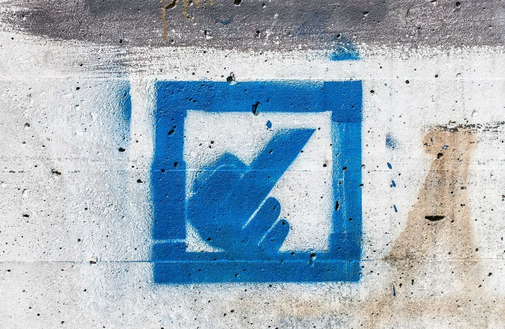 Deutsche Bank med ny logo. Foto: Markus Tacker