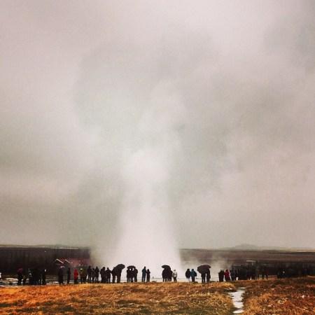 Geysiren Strukkur på Island. Foto: Josefine Granding Larsson