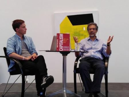 Ola Innset og Anwar Shaikh i Lillehammer. Foto: Ellen Engelstad