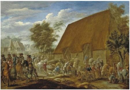 Oljemaleri av bønder på 1600-tallet malt av Lambert de Hondt. Foto: Wikimedia Commons