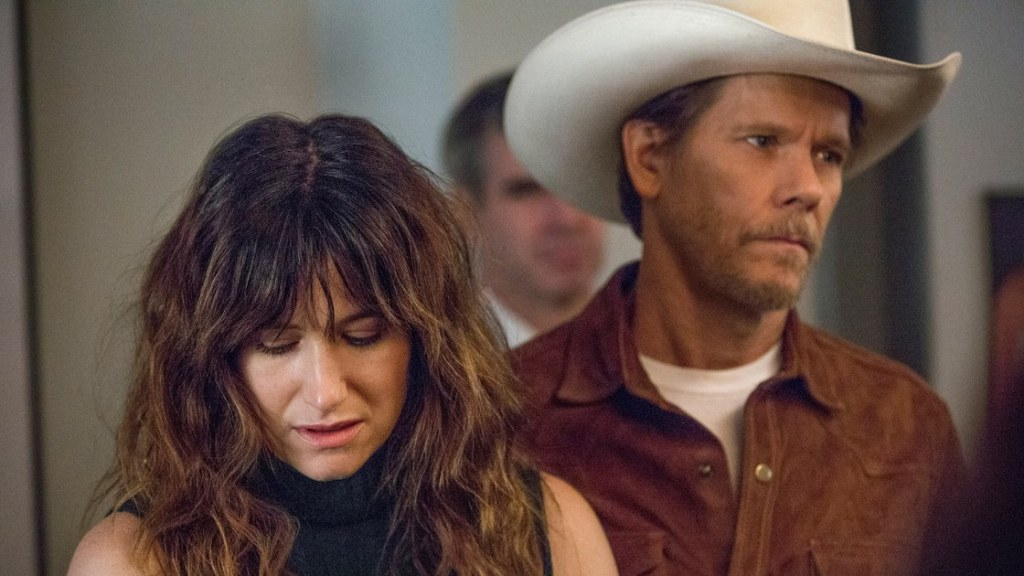 Kathryn Hahn som Chris og Kevin Bacon som Dick i TV-serien «I love Dick» av Jill Soloway.