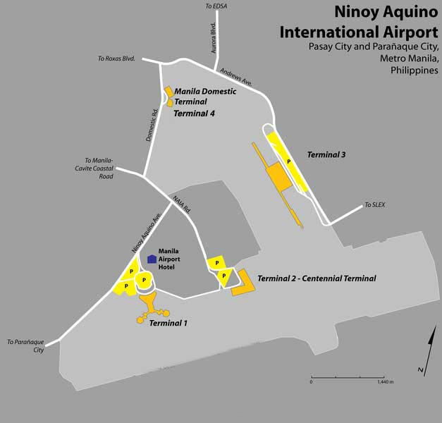Map   Manila Ninoy Aquino International Airport NAIA Manila Airport