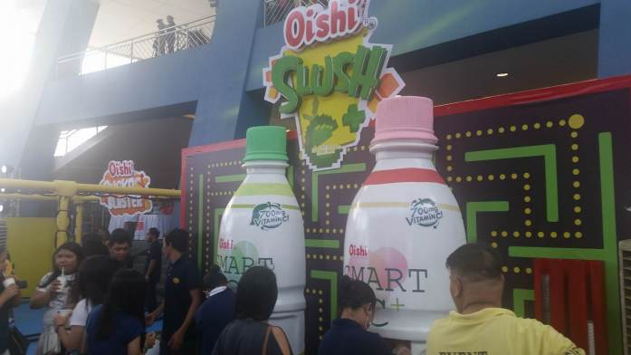 Two huge bottles of Smart C producing refreshing slushies. I'd like to come back for more.