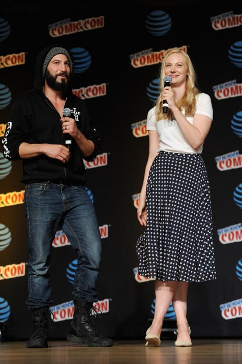 Jon Bernthal and Deborah Ann Woll at the New York Comic Con 2016. (Photo courtesy of Netflix)