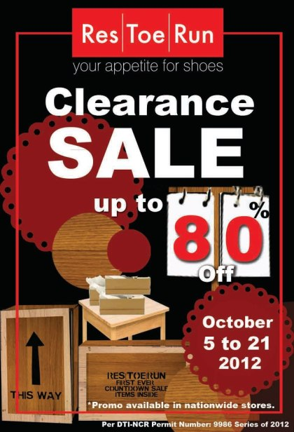 Res|Toe|Run Clearance Sale October 2012