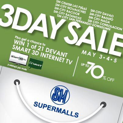 SM Supermalls 3-Day Sale May 2013