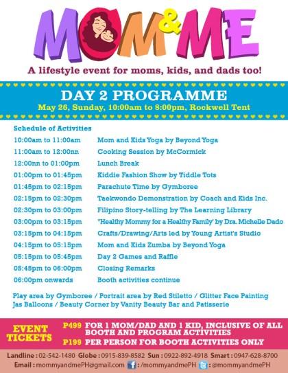 Mom & Me Bazaar Day 2 Programme May 2013