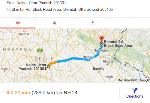 Noida, Bhimtal, National Highway, Road trip
