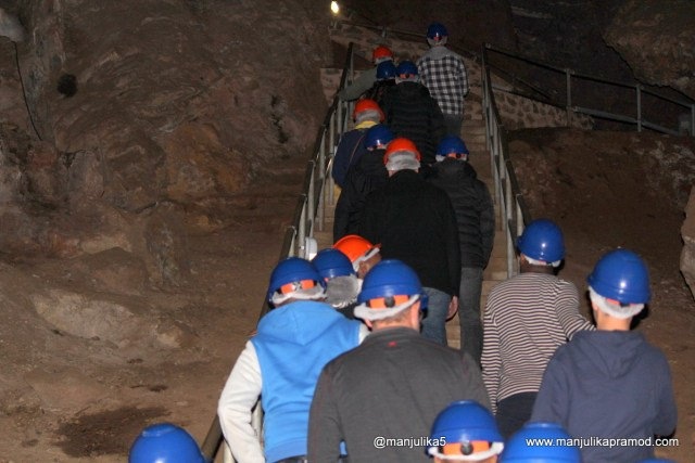 Cave walking at Sterkfontein