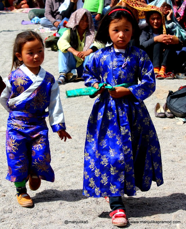 Little Girls, Local Dress