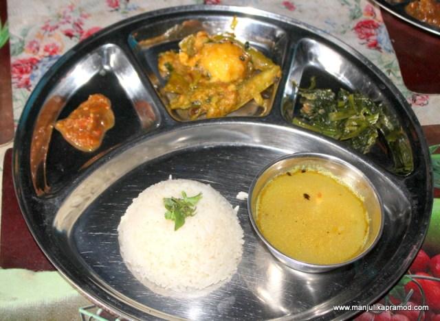 Daal-Bhaat plate