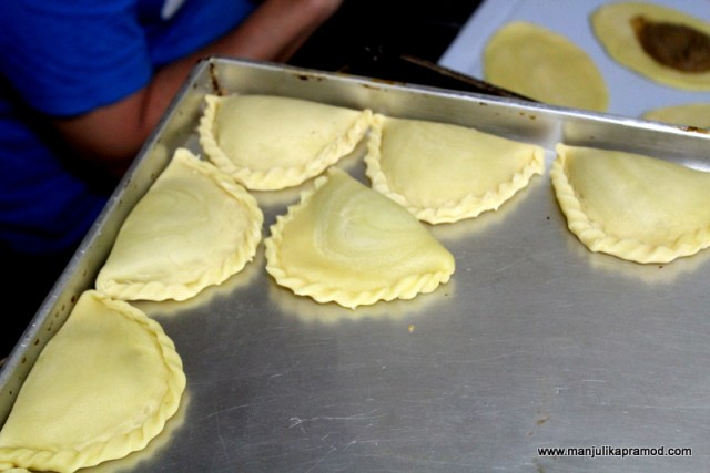 The final product before frying -Kaya puffs