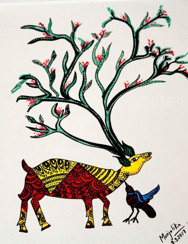 Gond art, Art book, Singinawa Jungle Lodge