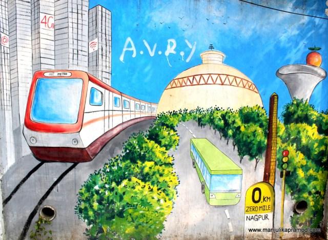 Wall Art, Street art, Nagpur, Maharastra