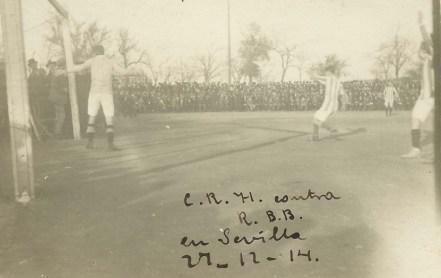 1914-Diciembre 27-Domingo 1erDesafío: Real Betis Balompié-1 C.Huelva Recreation-3.-Centenario.