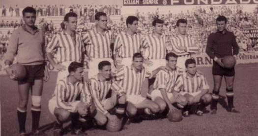 Alineación Betis-Racing de Santander Amistoso 1955