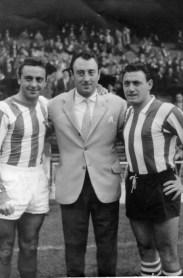 Los hermanos Areta en San Mamés 1960
