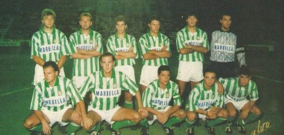 Alineación Betis-Barcelona Trofeo Ciudad de Sevilla 1992