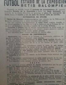 Anuncio Abonos Temporada 1936-37