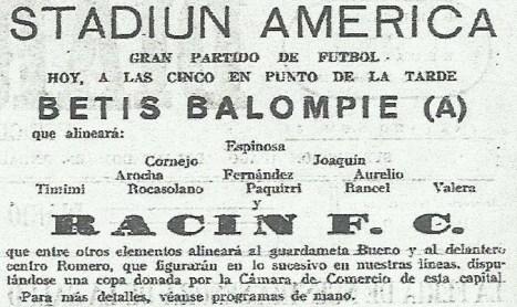 1935-Mayo 29-Copa Cámara Comercio-Córdoba: Rácing Fc-2 Betis Balompié-3.-80Aniversario.