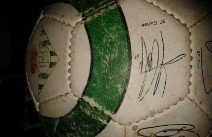Balón autógrafos jugadores Real Betis Balompié-Temporada 2009-2010.