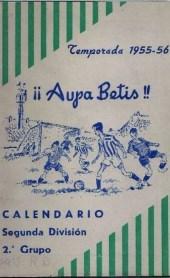 1955-1956.-Por eso ¡¡AUPA BETIS¡¡ por Adolfo de Sanlúcar.-L Aniversario.