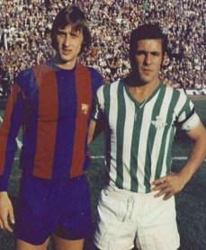 Antonio Benítez y Johan Cruyff 1975
