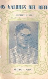 """Entrevista Pedro González """"Timimi """" 1935"""